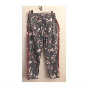 Sundry Floral Lautomne Cropped Pants Size 27 New